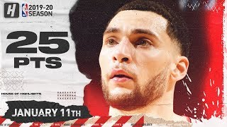 Zach Lavine 25 Points Full Highlights | Bulls vs Pistons | January 11, 2020