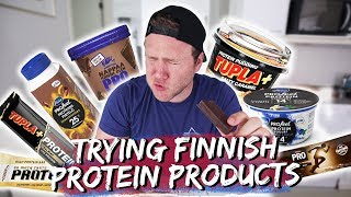 TRYING FINNISH PROTEIN PRODUCTS | Taste Test Tuesday