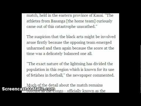 LIGHTNING KILLS AN ENTIRE FOOTBALL TEAM!!
