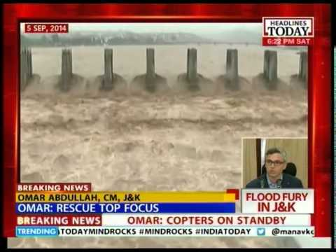 Omar Abdullah address about flood rescue operations in S. Kashmir