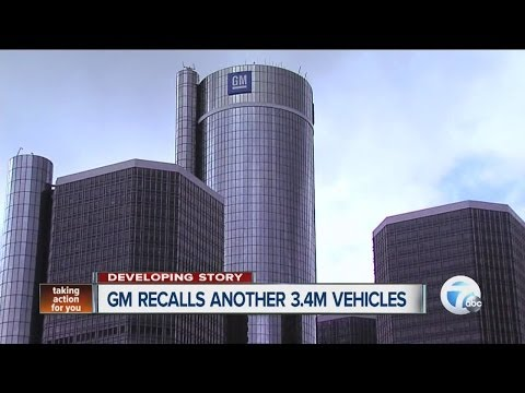 GM recalls another 3.4 million vehicles