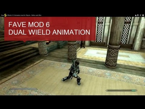Skyrim Mod #6: New Dual Wield v1-3 - Before and After