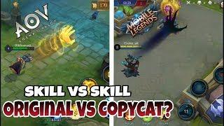MOBILE LEGENDS vs ARENA OF VALOR | Skill VS Skill _ Mana Yang CopyCat? #1
