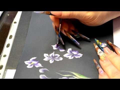 Китайская роспись акриловыми красками видео уроки