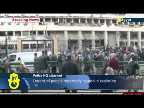 Large blast strikes police headquarters in Cairo: Egypt currently facing wave of Islamist violence