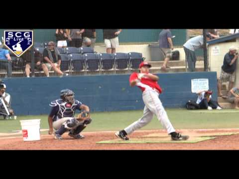 2011 PG All American Joey Gallo Loses Bat Into Crowd (SLOWMO)