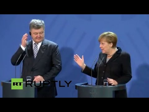 LIVE: Poroshenko and Merkel give joint press conference