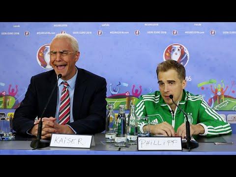 Kaiser Beckenbauer vs. Philipp Lahm lustig - EM 2016 (Matze Knop & Oli Pocher) Parodie