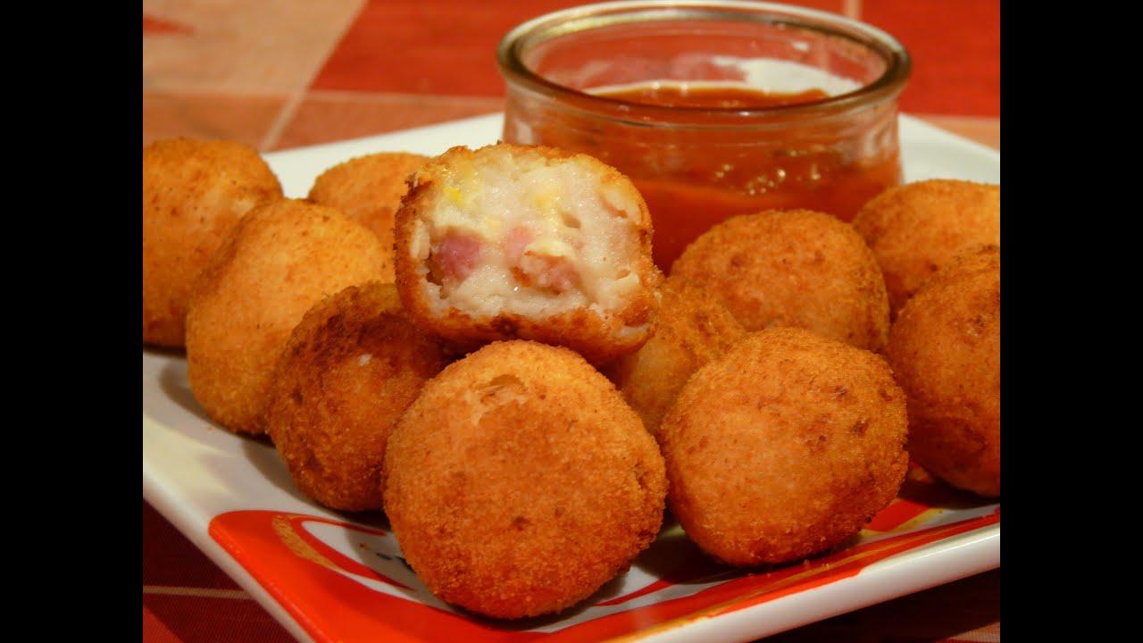 Cocina f cil bolitas de pur de patata con bacon y queso for Cocinar facil