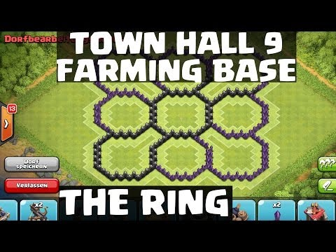 Town Hall 9 Farming Base - The Ring -    Clash of Clans    Speedbuild [HD]