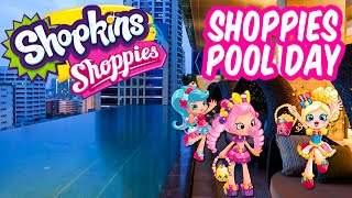 Shoppies Hotel Pool Party Jessicake Bubbleisha & Popette Go Swimming In Real Life