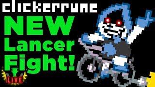 Fighting Lancer on HARD MODE! | Clickerrune (Deltarune Fan Games)