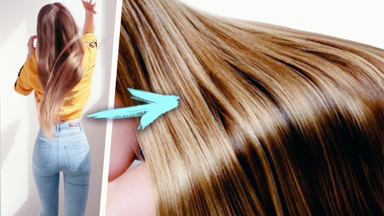 Как сделать волос с блестящими 220