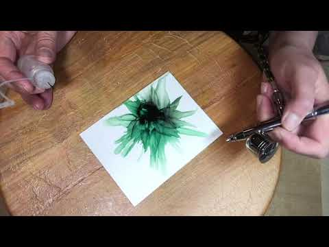 Green Queen:  An Alcohol Ink Tutorial