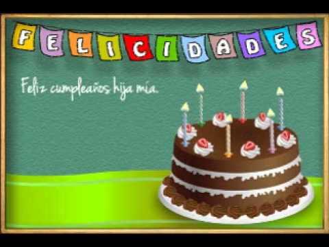 Feliz Cumpleaños Hija Mia - Videos Animados