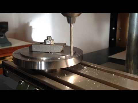 Drilling a steel backplate