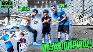 FRED + 10 (BOLAS)  x ARTHUR x DIEGO !!! A PLACA DOS 100K FOI ENTREGUE NUM DESAFIO ÉPICO.