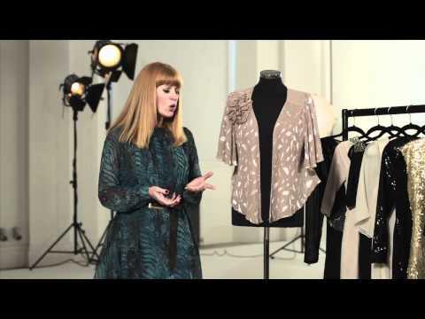 Video review of metallic detail short jacket (V3219)