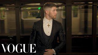 Nick Jonas Gets Met Gala Ready: Push-ups, Pizza, and Dreams of Rihanna | Vogue