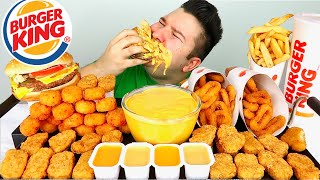 Extra Cheesy Burger King • MUKBANG