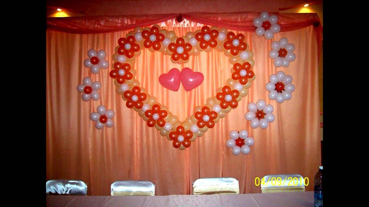 Украшение зала воздушными шарами своими руками
