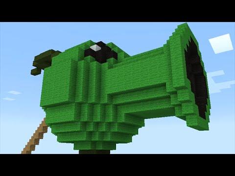 Minecraft vs Zombies   MEGA PEASHOOTER!! (Spider invasion!!)   PvZ  Land