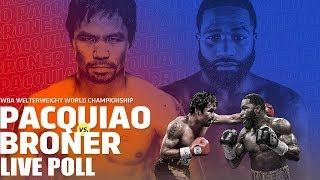 Manny Pacquiao vs Adrien Broner Live Poll