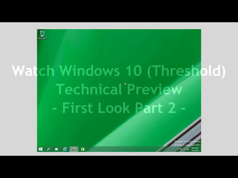 Windows 10 Technical Preview - First Look Part 1