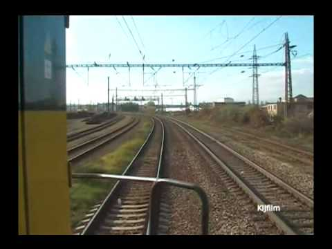 Train: Ústí nad Labem - Bílina, in driver cab. video 1