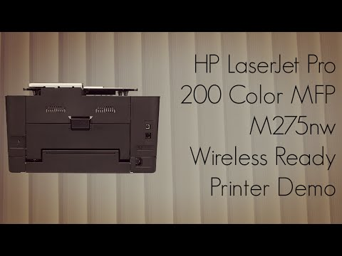 HP LaserJet Pro 200 Color MFP M275nw Wireless Ready Printer Demo