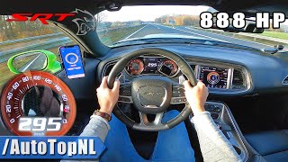 DODGE HELLCAT XR 888HP | AUTOBAHN POV (NO SPEED LIMIT!) by AutoTopNL