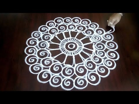 Freehand Rangoli Kolam Design   ||  Easy Quick Creative Freehand Muggulu || Fashion World