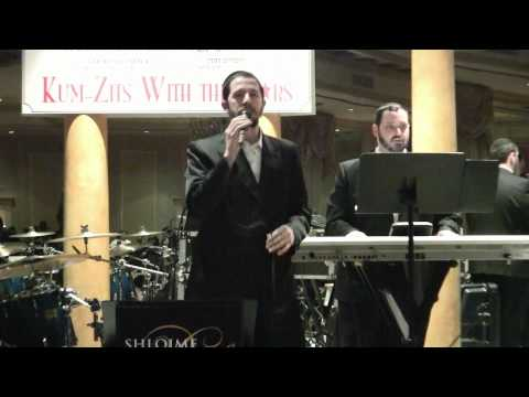 Shloime Gertner Singing at a Concert With The Shloime Dachs Orchestra