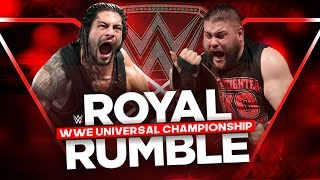 WWE Royal Rumble 2017 - Kevin Owens vs Roman Reigns (WWE Universal Championship) - WWE 2K17