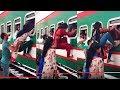 Passengers Hanging Out of Moving Train-Dhaka Kamal