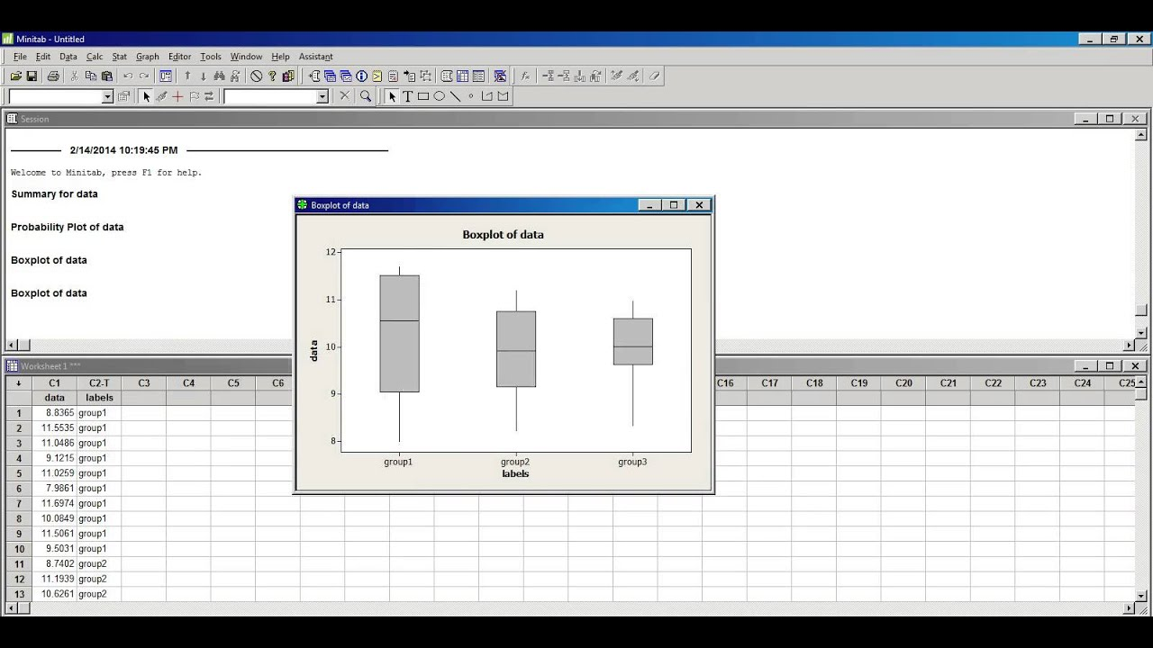 Box Plot Excel Template