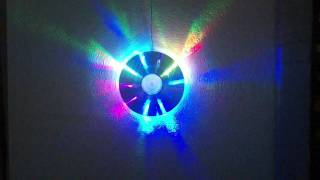 RGB LED CD Wall Lamp