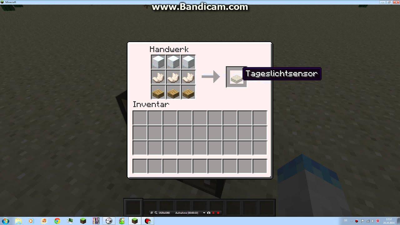 Minecraft Tageslichtsensor craften - YouTube