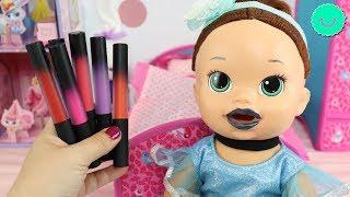 12 Pintalabios para SARA Baby Alive la muñeca viste de CENICIENTA