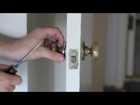 How to remove an old 1950 39 s brass door knob with joe - Old fashioned interior door locks ...