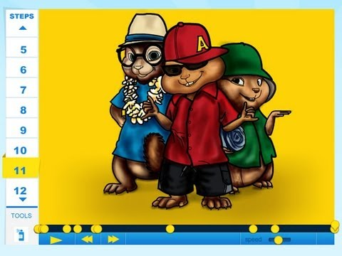 How to draw Alvin and the chipmunks (chipwrecked) - Drawing Tutorial Video