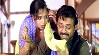 Venkatesh And Soundarya All Time Best Movie Scene | Telugu Videos | Silver Screen Movies
