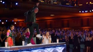 TOP 5 Rapper Gets GOLDEN BUZZER With Original Songs on Got Talent