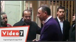محمود الخطيب وحلمى طولان يشاركان فى عزاء