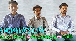 ENGINEER'S LIFE 🔥|| ELECTRICAL~MECHANICAL~CIVIL || FUNNY VIDEO || KANGRA BOYS 2018