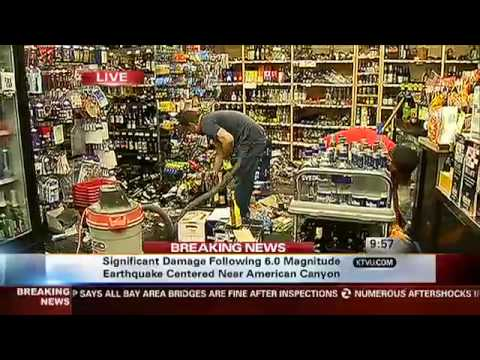 Napa Quake: One Year Later - Inside Liquor Store