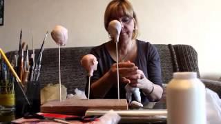 Процесс создания авторской куклы из фимо