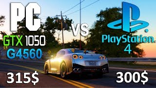PS4 vs PC (GTX 1050 + G4560) in 6 Games