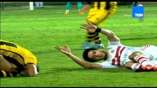 ستاد TeN - سقوط يخطف القلوب لـ اللاعب عمر جابر فى لقاء الزمالك والمقاولون