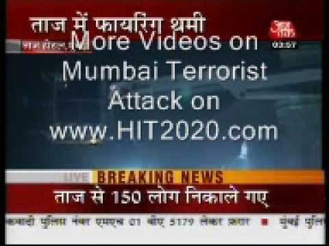 mumbai attack bomb blast and firing live video 26th november by www.HIT2020.com
